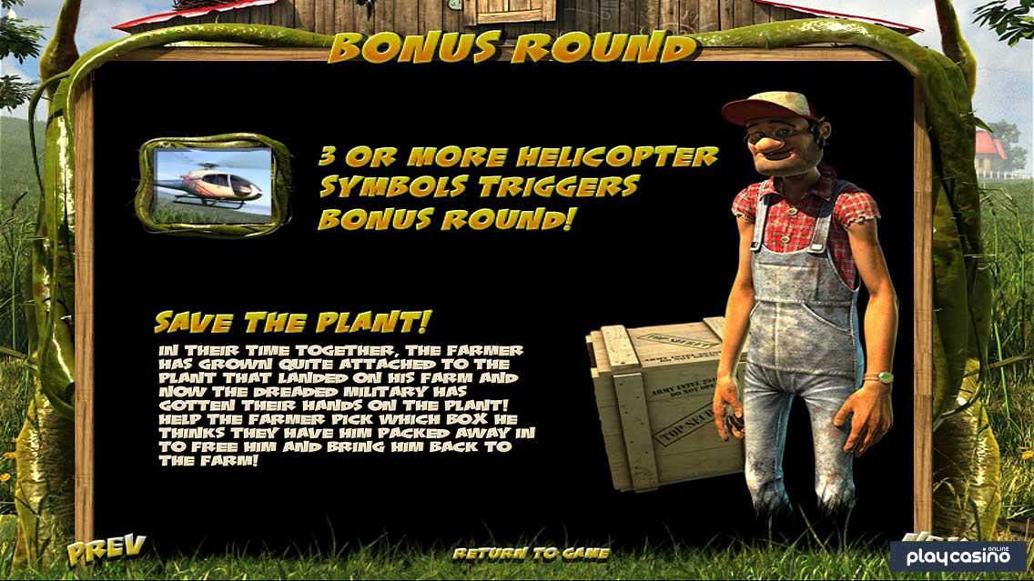 Save the Plant Bonus Round