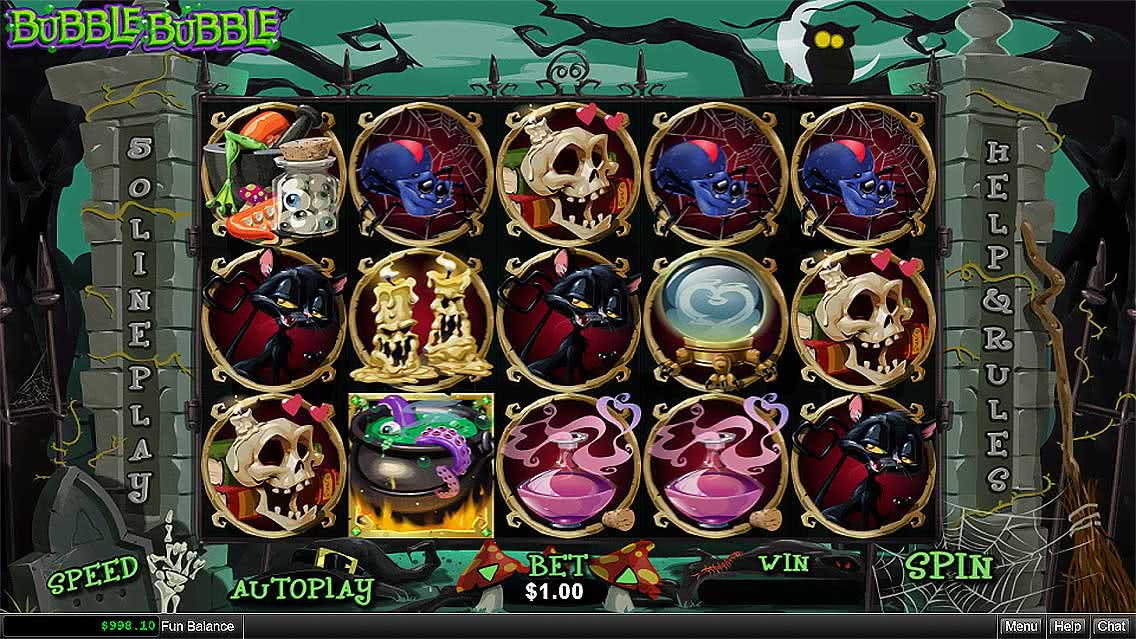 Bubble Bubble Slots Game Screenshot