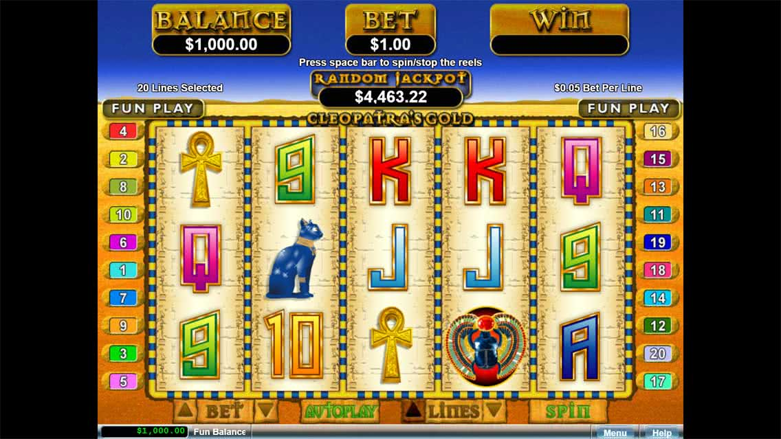 Cleopatra's Gold Slots Game Screenshot