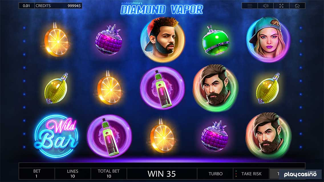 Diamond Vapor Slots Game Screenshot