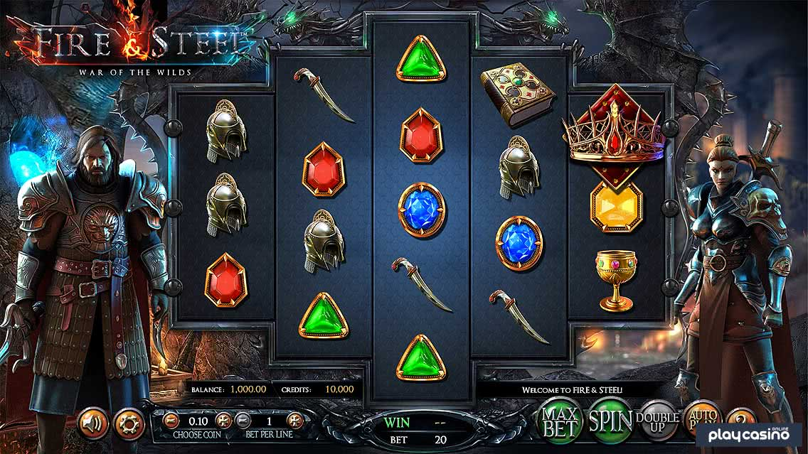 Fire and Steel Slots Game Screenshot
