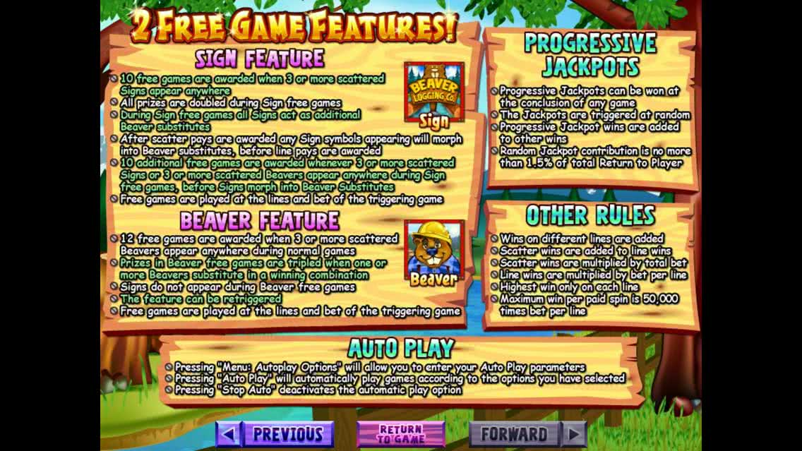 Builder Beaver Free Game Features