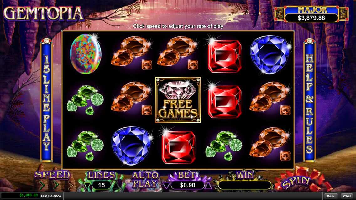 Gemtopia Slots Game Screenshot
