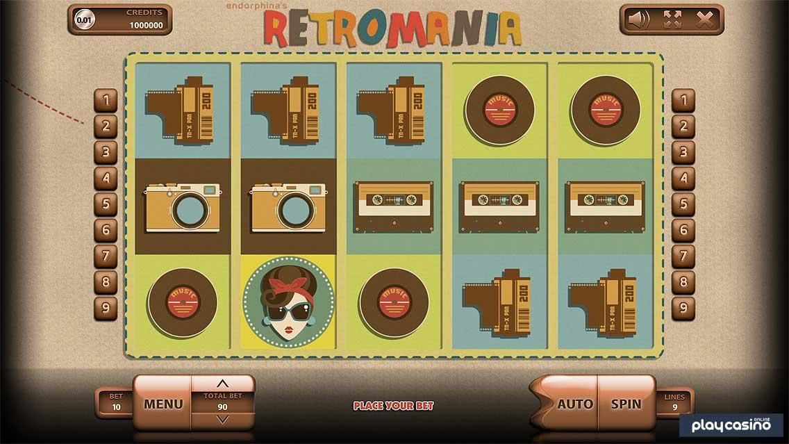 Retromania Slots Game Screenshot