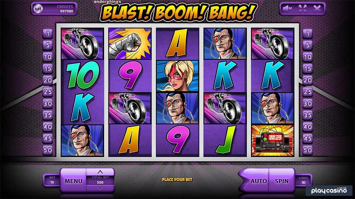 Screenshot of the Blast! Boom! Bang! Slots Game
