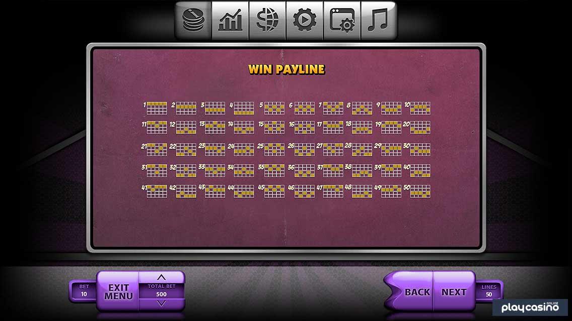 Winning Paylines