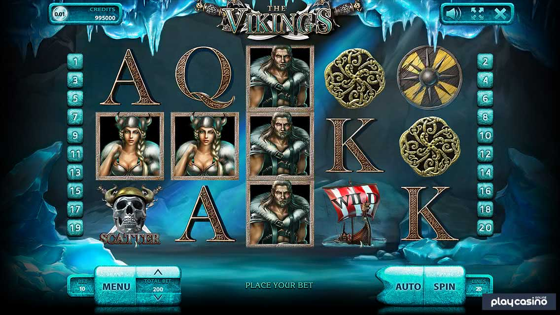 The Vikings - Slots Game Screenshot