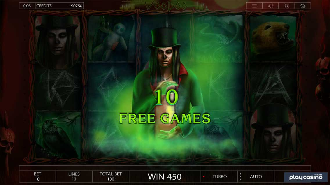 Voodoo Slot 10 Free Spins