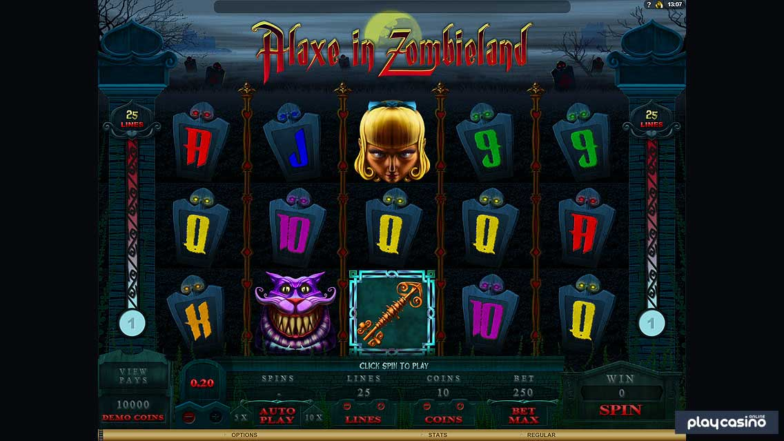 Alaxe in Zombieland Slot Screenshot