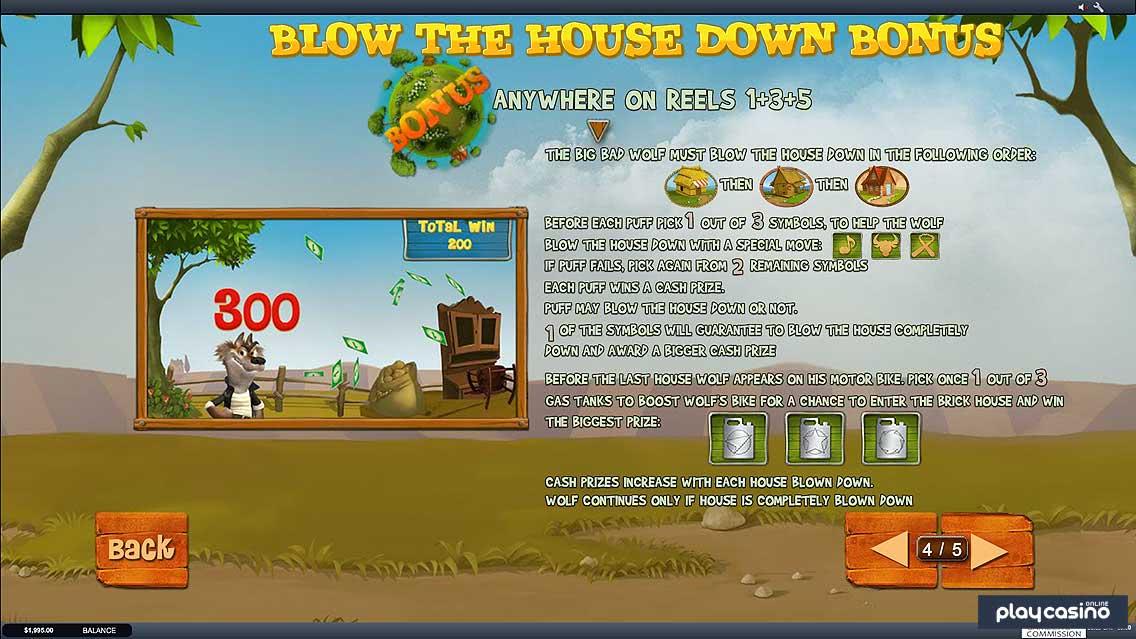 Blow the House Down Bonus