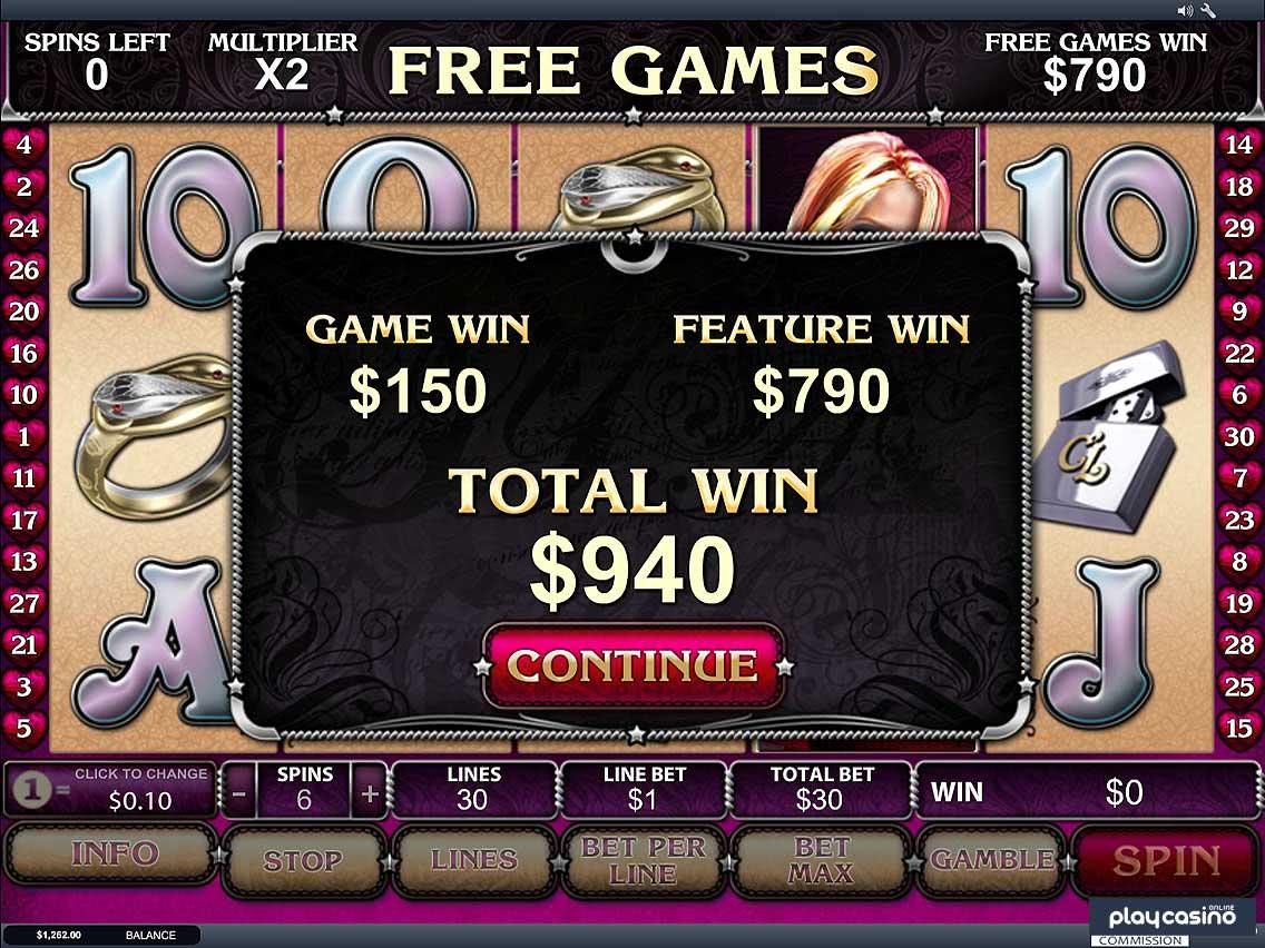 Free Games Earnings Screen