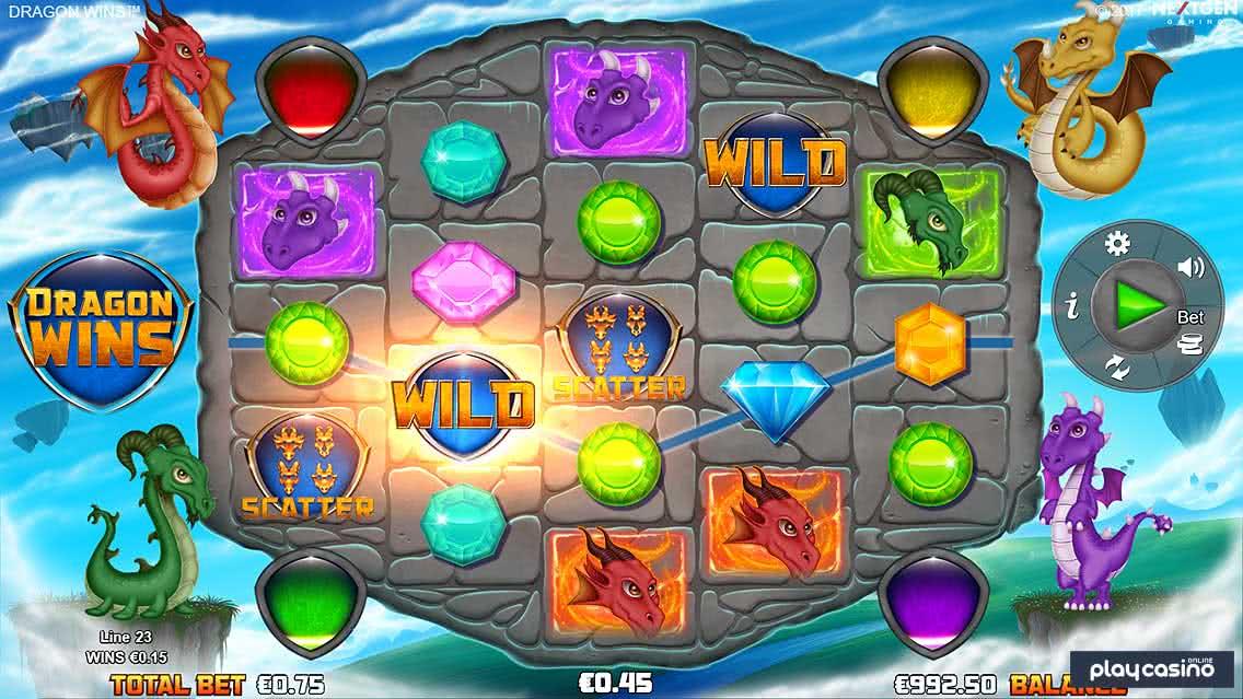 Dragon Wins Slot Screenshot