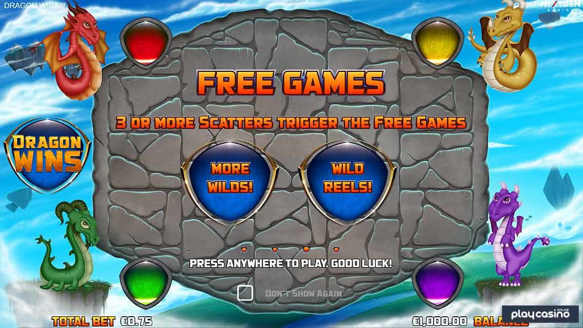 Dragon Wins Slot Free Spins