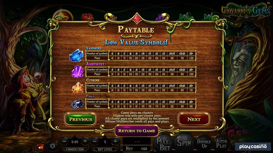 Low Value Payouts