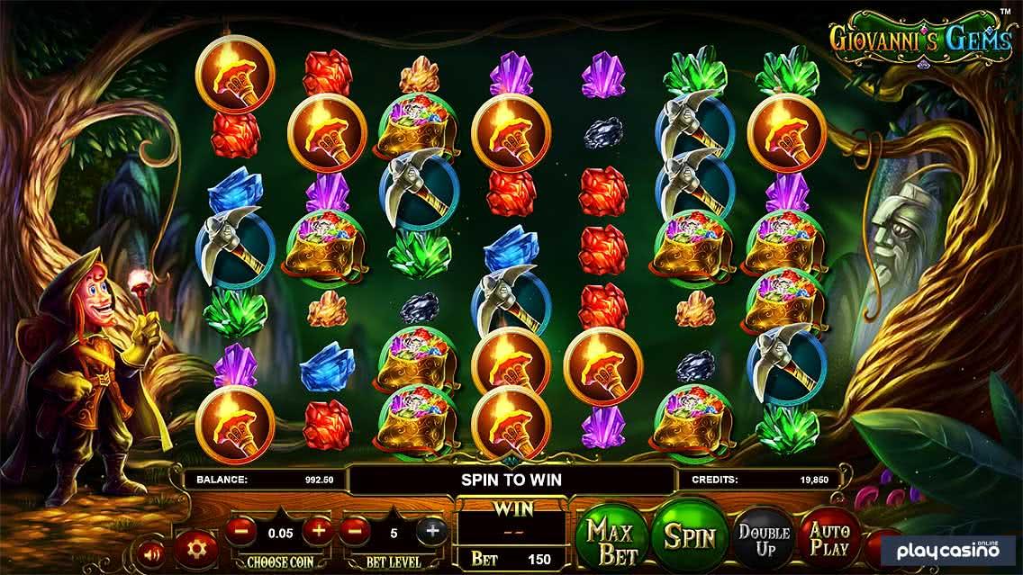 Giovanni's Gems Slot Screenshot
