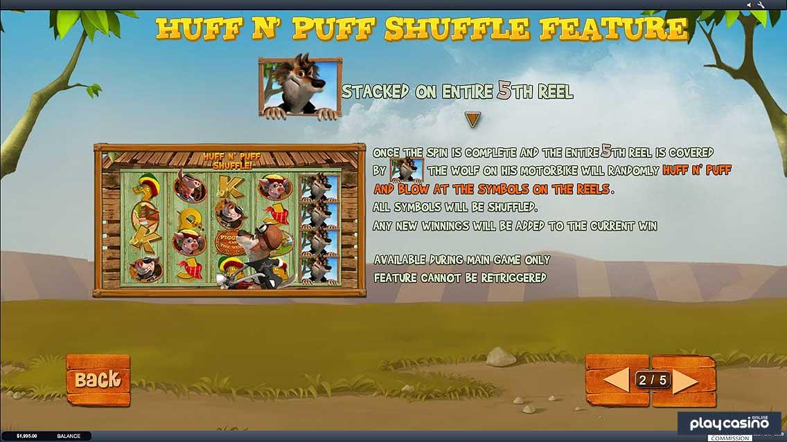 Huff N Puff Shuffle Feature