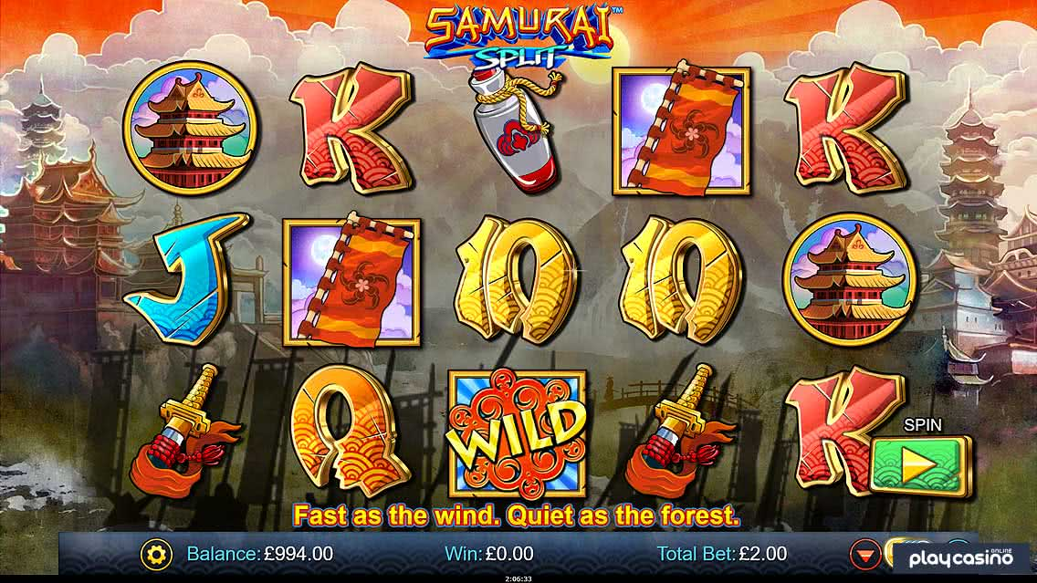 Samurai Split Slot Game Screenshot