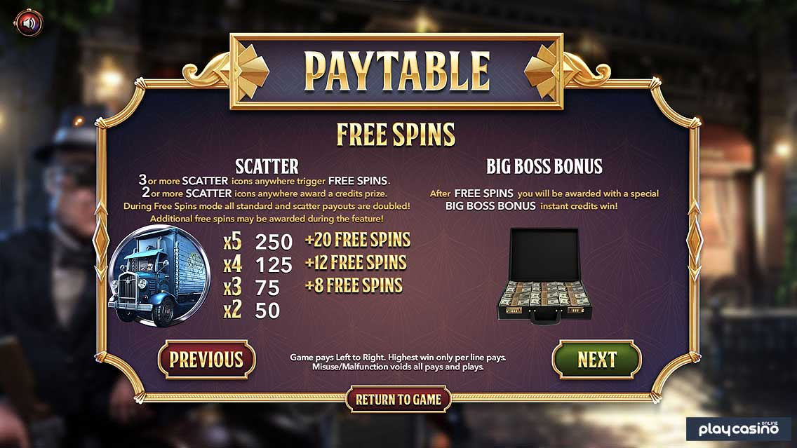 Slotfather Part 2 Free Spins