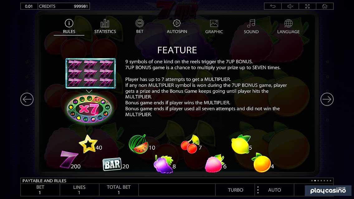 7up Slot Bonus Game
