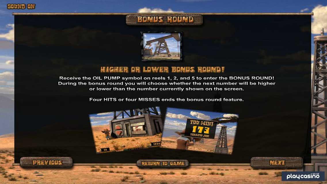 Higher or Lower Bonus Feature