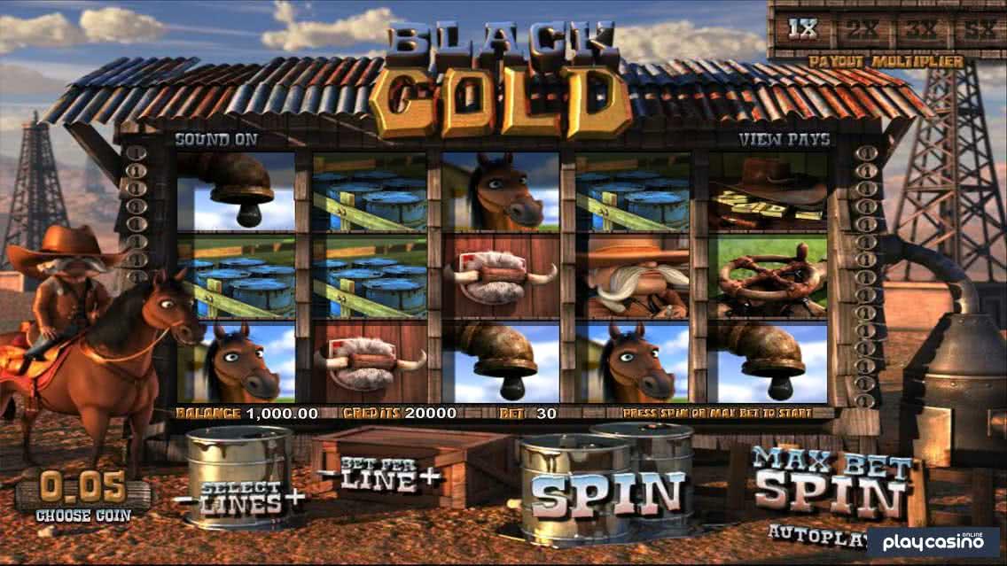 Black Gold Slot In Game Screenshot
