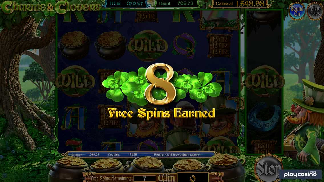 Charms and Clovers Free Spins