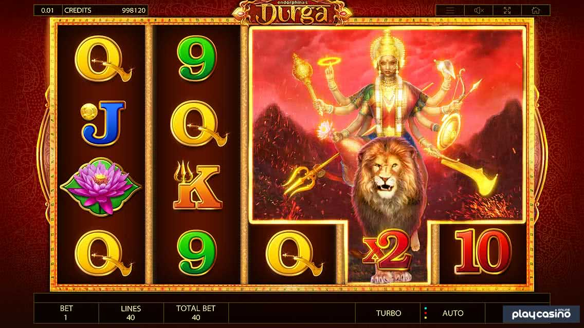 Durga Wild Multiplier Lion Symbol