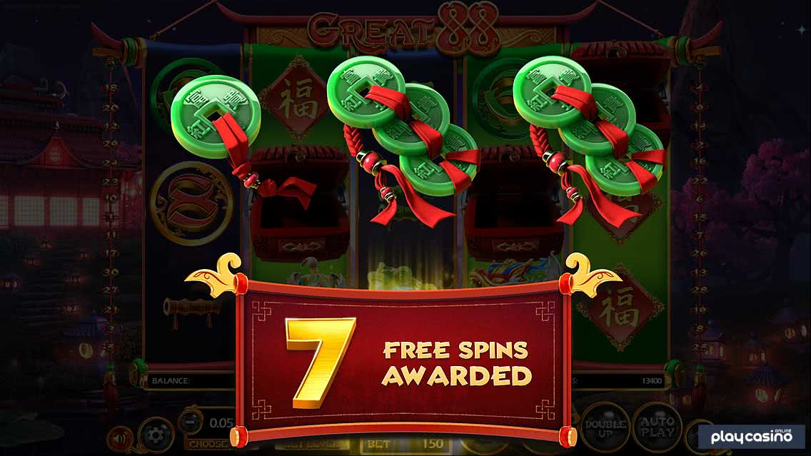 Great 88 Free Spins Awarded