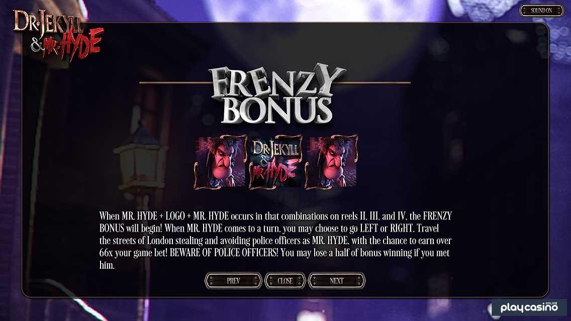 Frenzy Bonus Feature