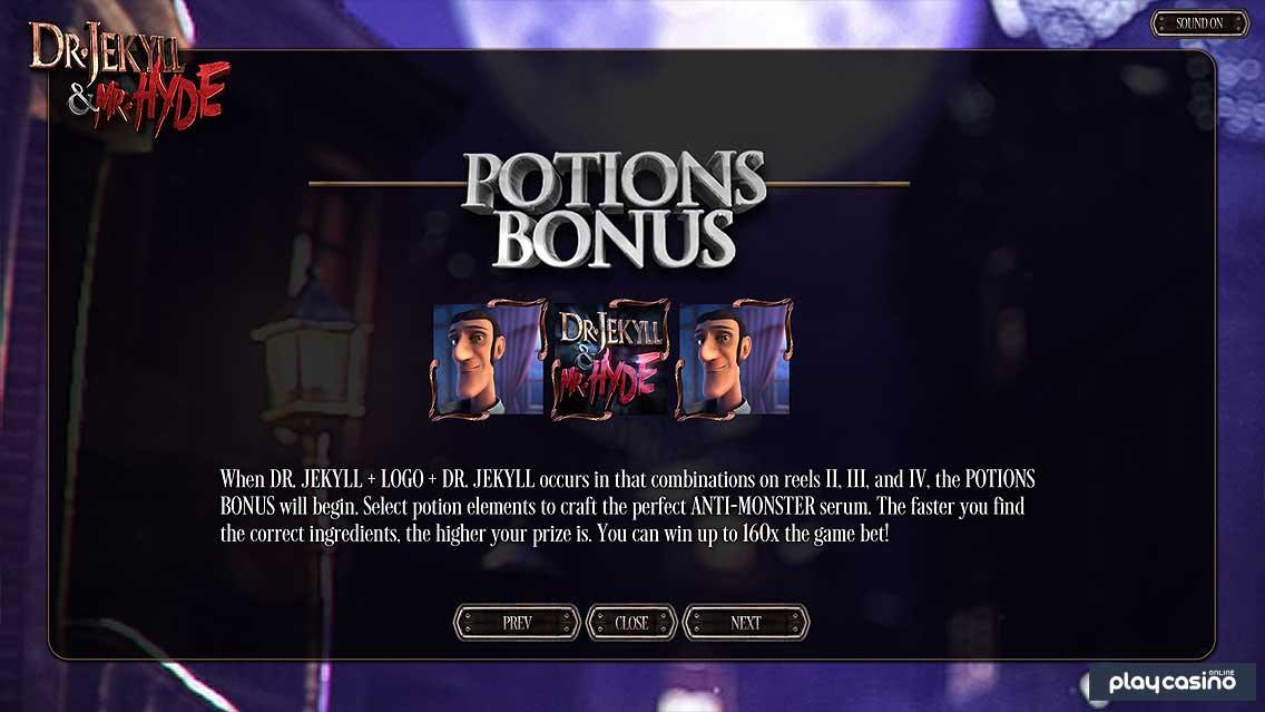 Potions Bonus Feature