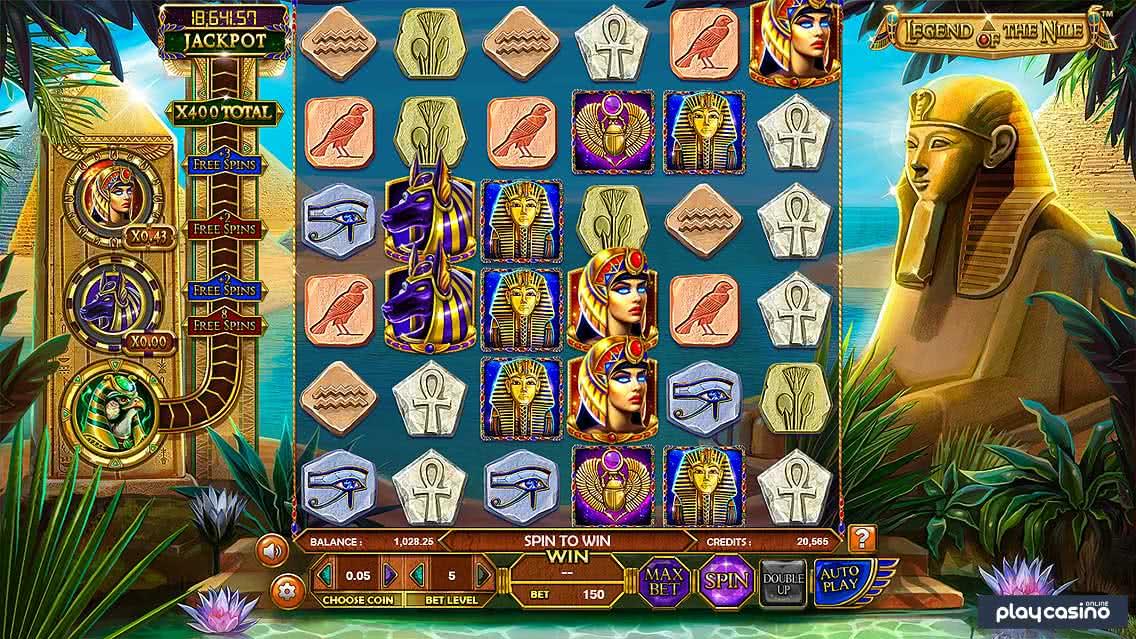 Legend of the Nile Slot Screenshot