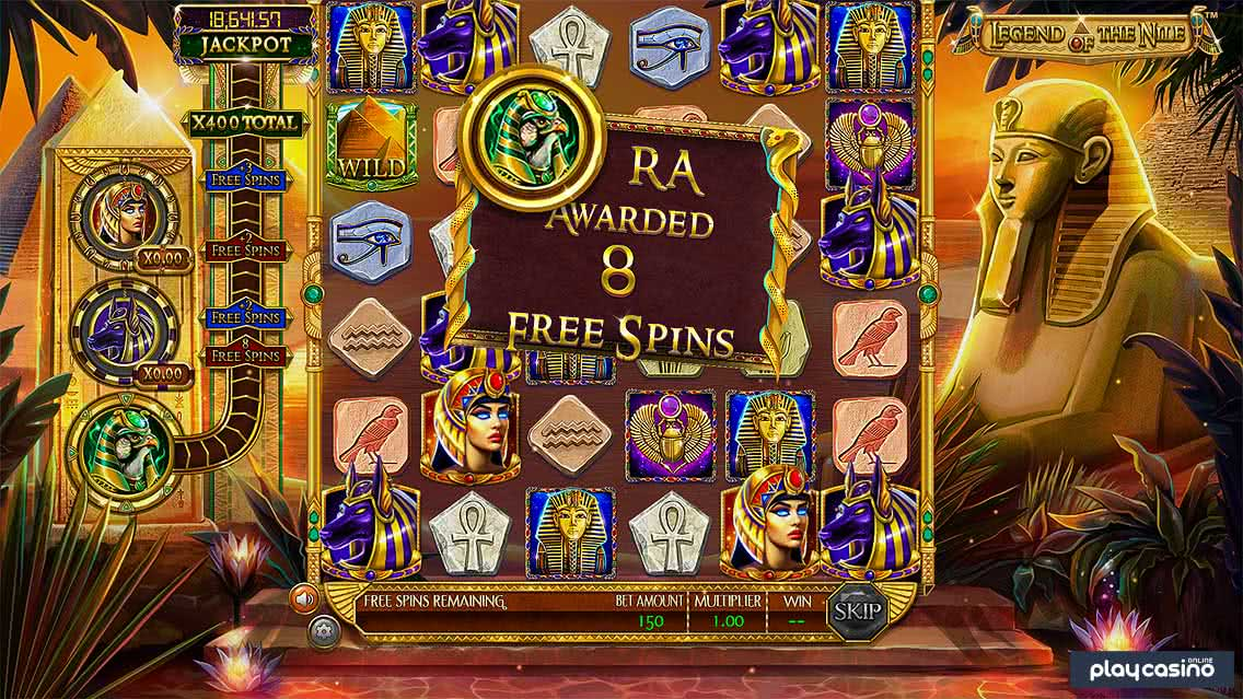 Legend of the Nile Free Spins Award
