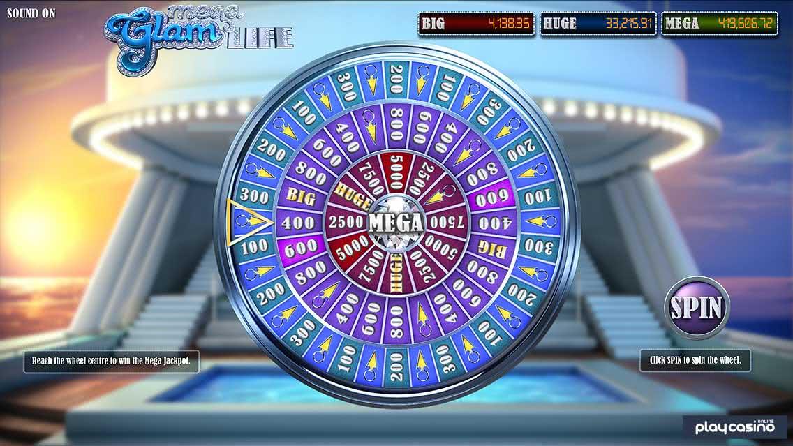 Mega Glam Life - Bonus Wheel