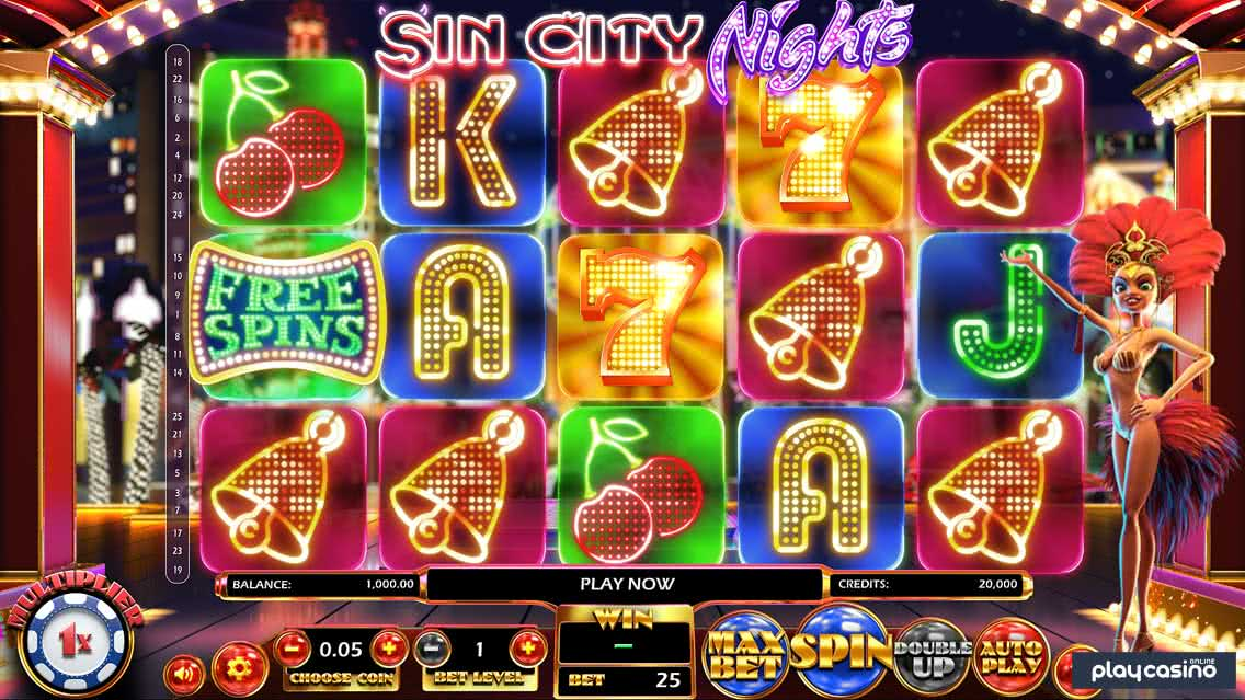 Sin City Nights Slot Screenshot