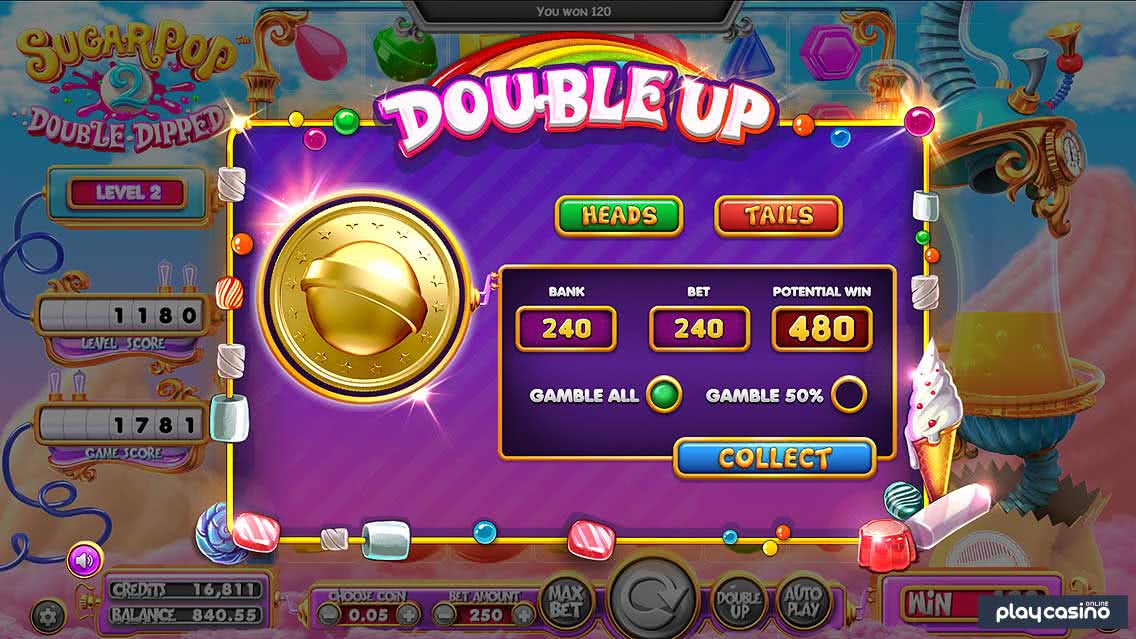 Double Up Game Feature in Sugar Pop 2