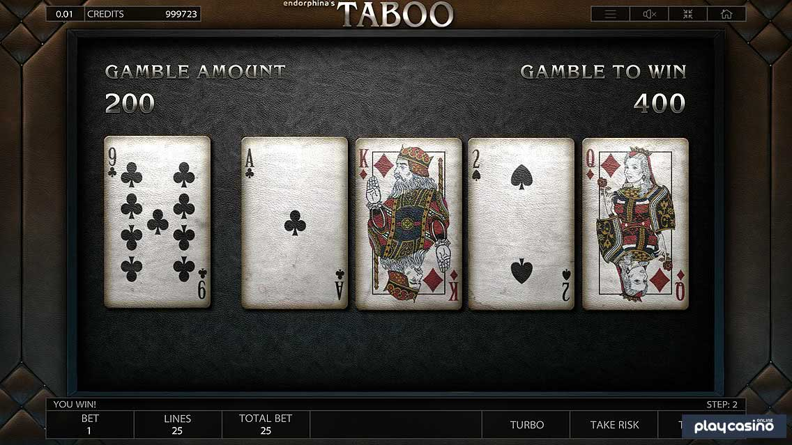 Taboo Slot Gamble to Win Feature