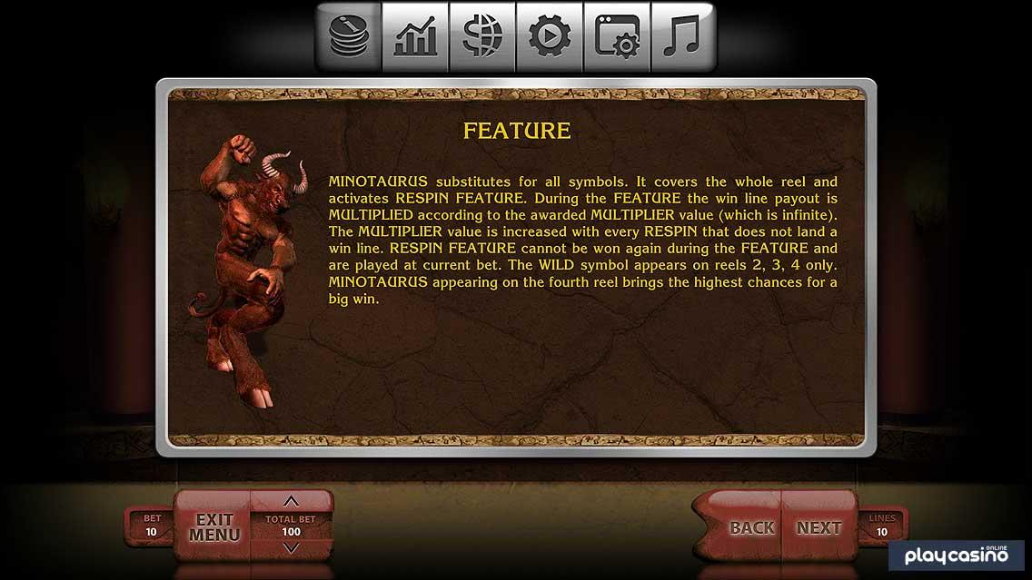 Minotaur Re-spin Bonus