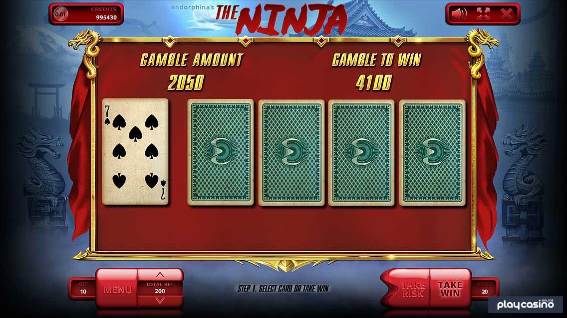 The Ninja - Gamble to Win Feature