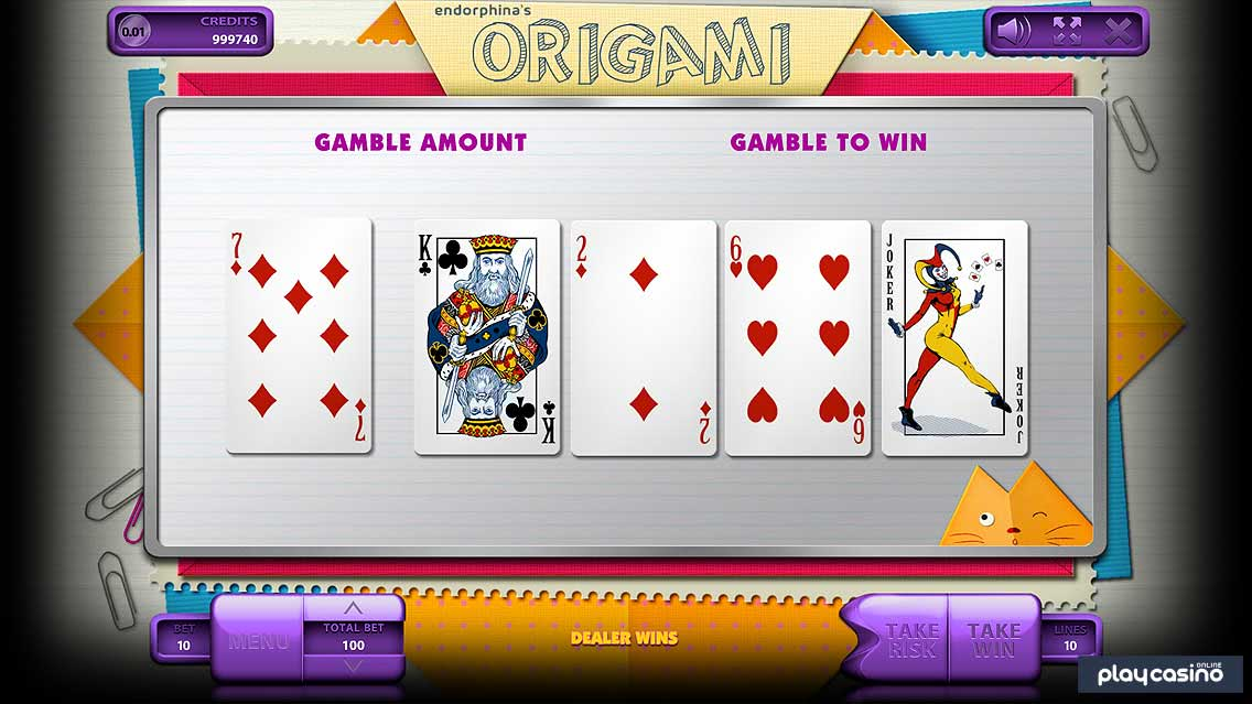 Origami Slot - Double Up Risk Game