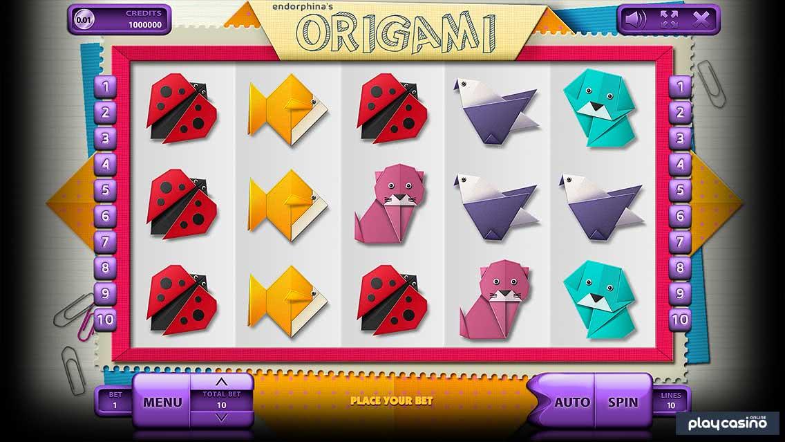 Origami In Game Slots Game Screenshot