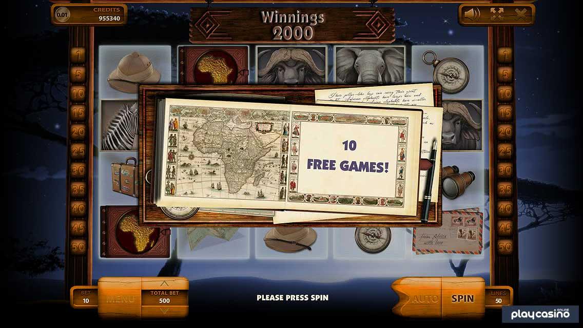 Safari Slot Free Spins