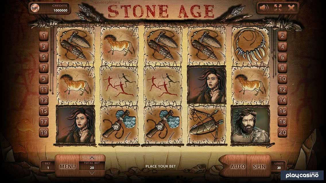 Stone Age Slot - In Game Screenshot