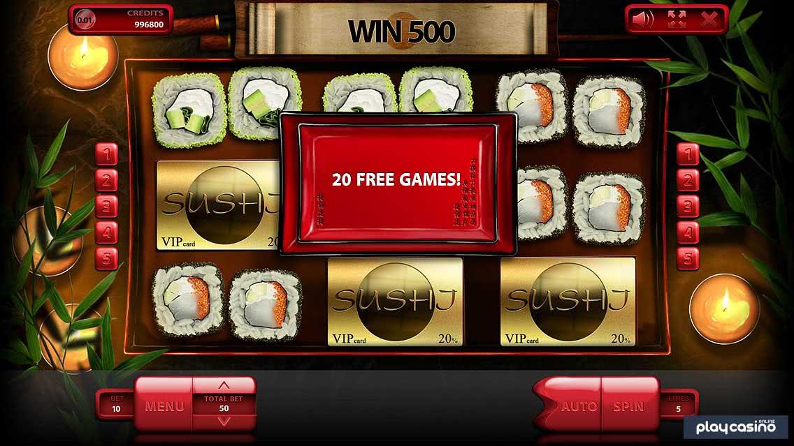 Sushi Slot - Free Spins Bonus
