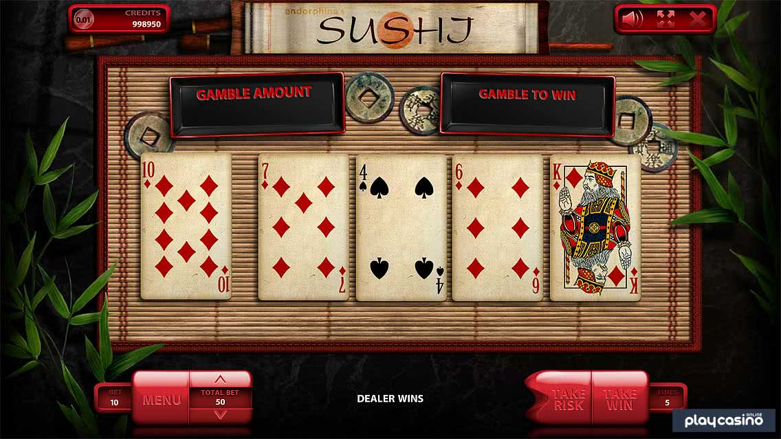 Sushi Slot - Double Up Risk Game