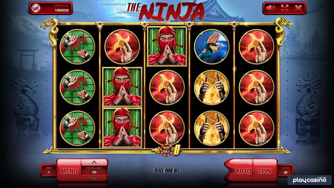 The Ninja Slot In Game Screenshot