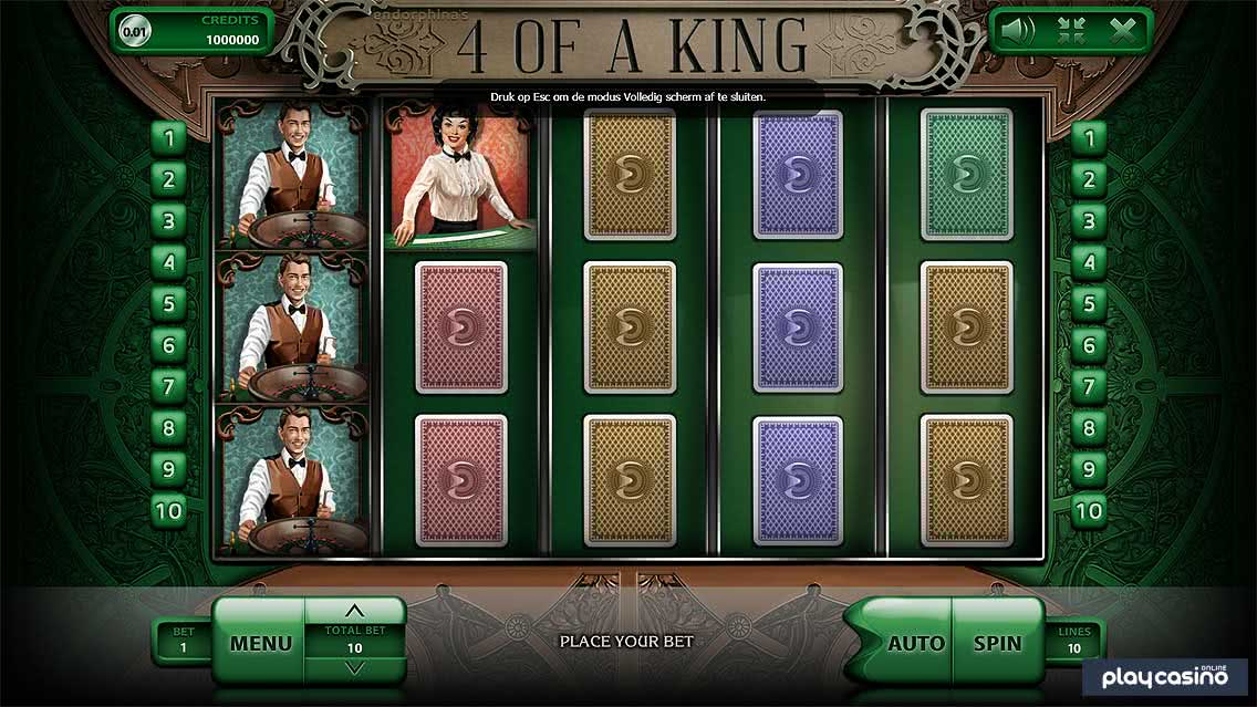 Screenshot of the 4 of a King Slot Game