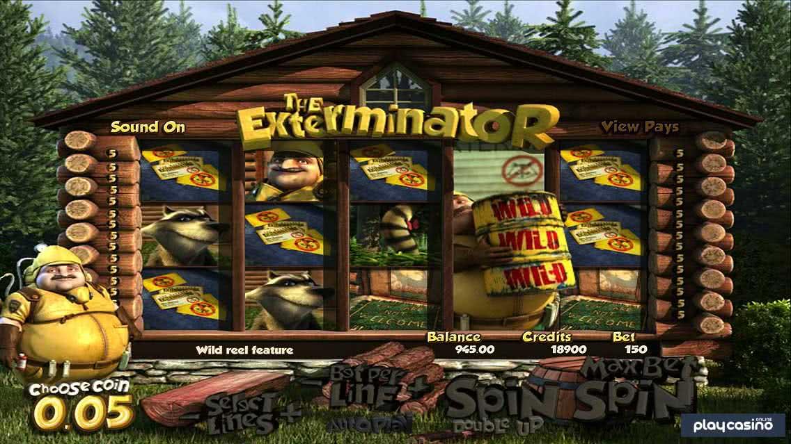 Exterminator Wild Reel Feature
