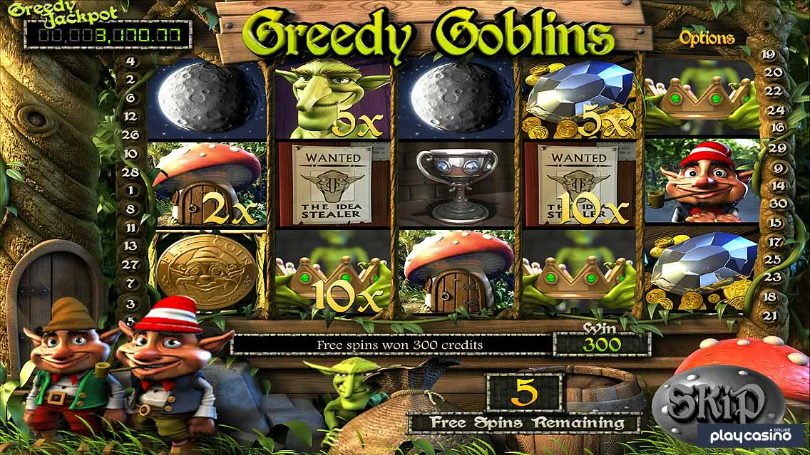 Greedy Goblins Free Spins and Elfania Scatter Pays