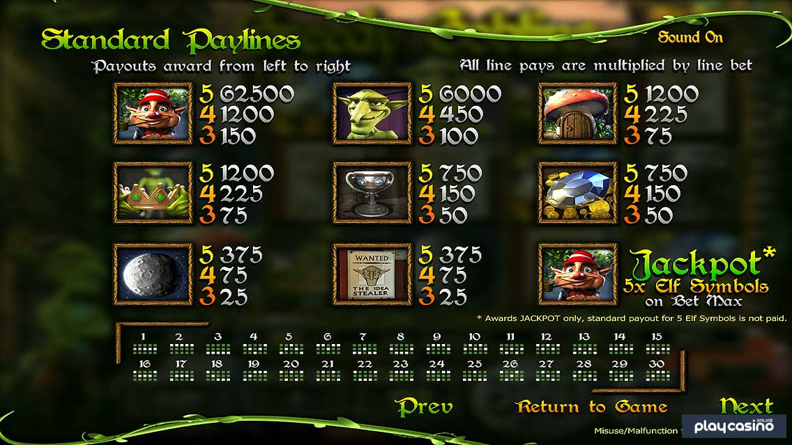 Greedy Goblins - Symbols and Prizes
