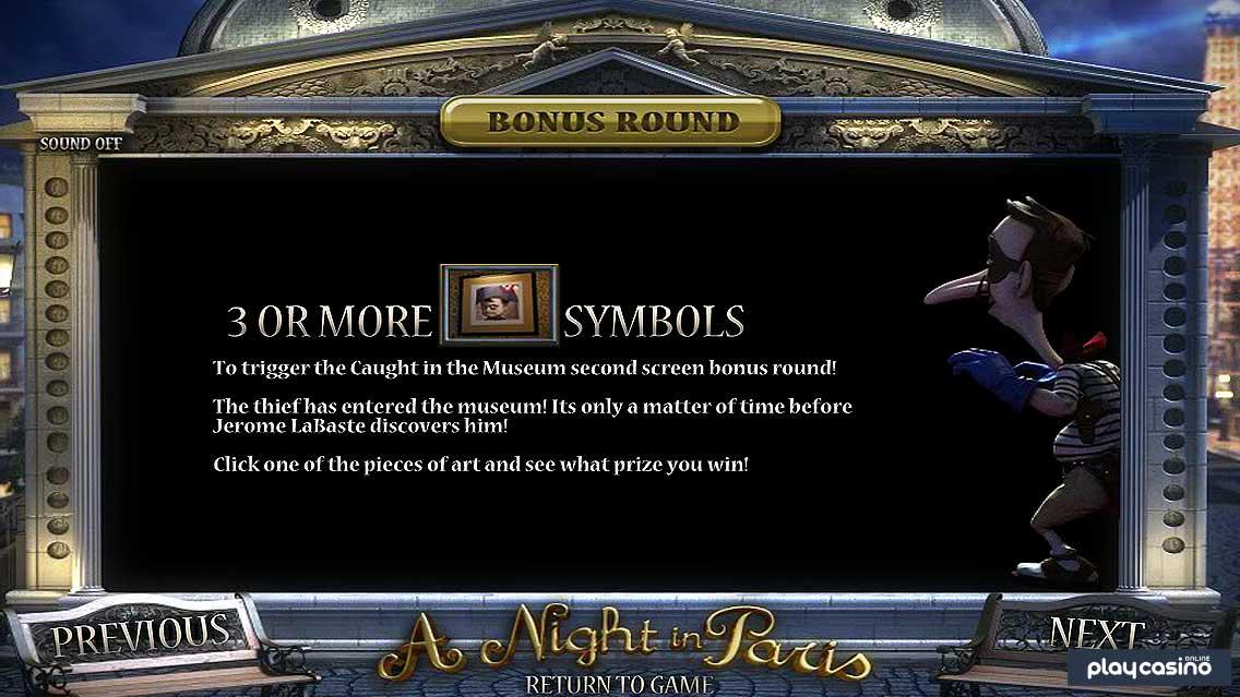 A Night in Paris Slot - Bonus Round